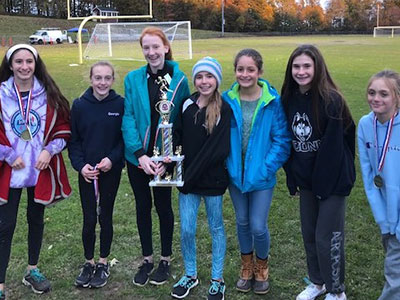 Central MA XC 2018 Girls Trophy Winners