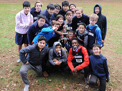 Western MA XC 2018 Boys Trophy Runners Up